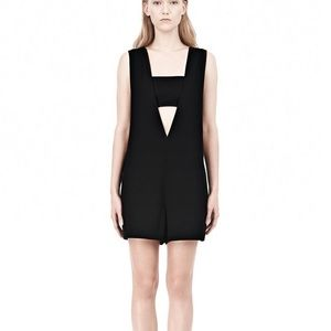 T by Alexander Wang v-neck romper with bandeau